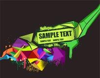 Abstracte Kleurrijke Banner Stock Afbeelding