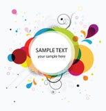 Abstracte kleurrijke banner als achtergrond Stock Foto's
