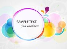 Abstracte kleurrijke banner als achtergrond in vector Royalty-vrije Stock Fotografie
