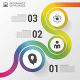 Abstracte kleurrijke bedrijfsweg Chronologie infographic malplaatje Vector illustratie Stock Foto's