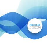 Abstracte kleurrijke blauwe lijn vectorachtergrond Royalty-vrije Stock Fotografie