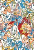 Abstracte kleurrijke bloemachtergrond royalty-vrije illustratie
