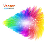 Abstracte kleurrijke bloemblaadjes stock illustratie
