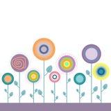 Abstracte kleurrijke bloemen stock illustratie