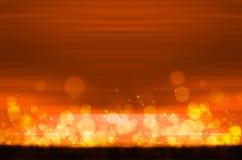 Abstracte kleurrijke bokeh op oranje achtergrond Royalty-vrije Stock Fotografie