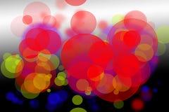 Abstracte kleurrijke bokehachtergrond Stock Foto