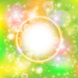 Abstracte kleurrijke bokehachtergrond Stock Afbeelding