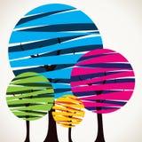 Abstracte kleurrijke boomachtergrond Royalty-vrije Stock Afbeeldingen