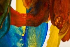 Abstracte kleurrijke borstelslagen stock foto's