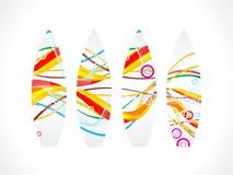 Abstracte kleurrijke brandingsraad Stock Foto's