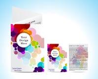 Abstracte kleurrijke circulerbrochure Stock Afbeelding