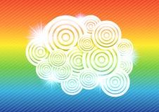Abstracte kleurrijke cirkel vectorillustratie als achtergrond Stock Afbeelding