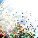 Abstracte kleurrijke cirkelachtergrond Stock Foto