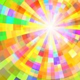Abstracte Kleurrijke Cirkeltunnel Het kan voor prestaties van het ontwerpwerk noodzakelijk zijn Royalty-vrije Stock Foto