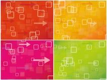 Abstracte kleurrijke comboachtergrond Stock Fotografie