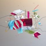 Abstracte kleurrijke commposition vector illustratie