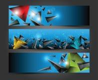 Abstracte kleurrijke 3D driehoek Royalty-vrije Stock Foto's