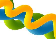 Abstracte kleurrijke 3d golvenachtergrond Royalty-vrije Stock Afbeelding