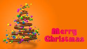 Abstracte Kleurrijke 3D Kerstboombanner royalty-vrije stock foto's