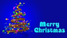 Abstracte Kleurrijke 3D Kerstboombanner stock fotografie