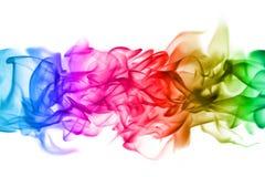 Abstracte kleurrijke damppatronen over de witte achtergrond Stock Foto