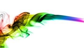 Abstracte kleurrijke dampvorm op wit Stock Afbeeldingen