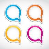 Abstracte kleurrijke dialoogbellen Stock Foto