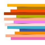 Abstracte Kleurrijke Document Strokenachtergrond stock illustratie