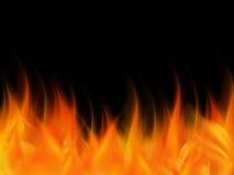 Abstracte Kleurrijke elegant van brandvlammen op abstracte achtergrond Stock Foto's