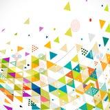 Abstracte kleurrijke en creatieve mengelings geometrische achtergrond Stock Afbeelding