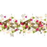 Abstracte kleurrijke en creatieve mengelings geometrische achtergrond, vector Stock Foto