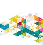 Abstracte kleurrijke en creatieve mengelings geometrische achtergrond, vector Stock Fotografie