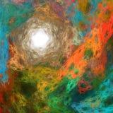Abstracte kleurrijke fractal achtergrond Stock Afbeelding