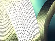 Abstracte Kleurrijke Futuristische Heldere Lichte Metaalachtergrond Stock Foto's