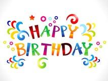 Abstracte kleurrijke gelukkige verjaardag stock illustratie
