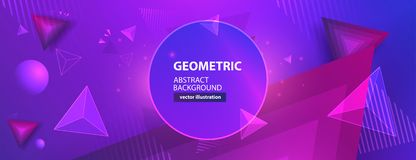 Abstracte kleurrijke geometrische achtergrond Vector illustratie stock afbeeldingen