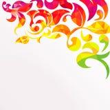 Abstracte kleurrijke geometrische bladerenachtergrond Royalty-vrije Stock Foto's