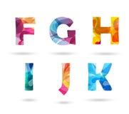 Abstracte kleurrijke geplaatste hoofdletters Stock Afbeelding