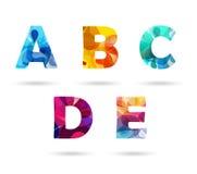 Abstracte kleurrijke geplaatste hoofdletters Stock Foto