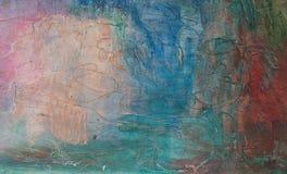 Abstracte kleurrijke geschilderde eigengemaakte achtergrond royalty-vrije stock foto