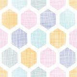 Abstracte kleurrijke geweven naadloze het patroonachtergrond van de honingraatstof Royalty-vrije Stock Foto