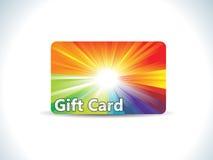 Abstracte kleurrijke giftkaart Stock Foto's
