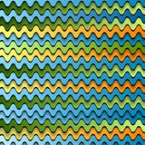 Abstracte kleurrijke golven Stock Afbeelding
