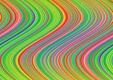 Abstracte kleurrijke golvende achtergrond Stock Afbeelding