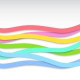 Abstracte kleurrijke golvende strepen Stock Fotografie
