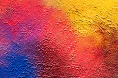Abstracte kleurrijke graffiti op pleister Royalty-vrije Stock Fotografie