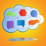 Abstracte kleurrijke grote wolk gegevensverwerking Royalty-vrije Stock Afbeelding