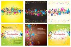 Abstracte kleurrijke grungebanner Stock Afbeelding