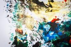 Abstracte kleurrijke hand geschilderde achtergrond vector illustratie