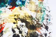 Abstracte kleurrijke hand geschilderde achtergrond royalty-vrije illustratie